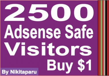 send 2500 Adsense Safe Visitors to your website/blog