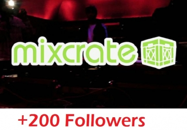 give you 200 real mixcrate followers only