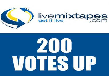 give 50 votes up score on livemixtapes