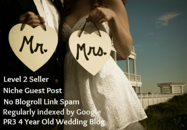 post your guest post on my PR3 Wedding Blog