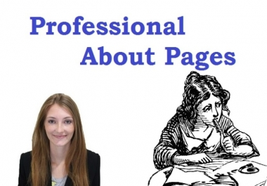 I will write an ABOUT Page