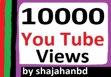 10,000 High Quality Safe YouTube Promotion Non Drop Instant Delivery