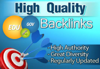 Manually create 10 gov and edu backlinks, Best Quality guarantee