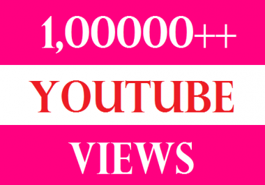 100000 YOU TUBE VIDEO VIEWS HQ NON DROOP LIFETIME GUARANTY FEW MINUTES RETENTION 10 LIKES PROMOTION SERVICES