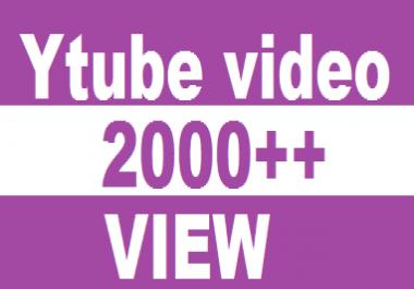 2500++  VIDEO VIEW HQ NON DROOP LIFETIME GUARANTY RANDOM RETENTION  PROMOTION SERVICES