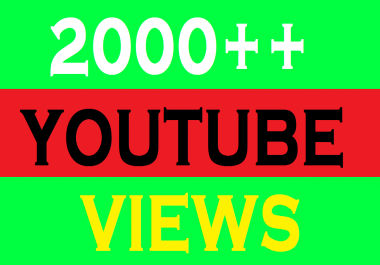 Provide 2,000 you tube views 200+ real and active YouTube Likes your account.