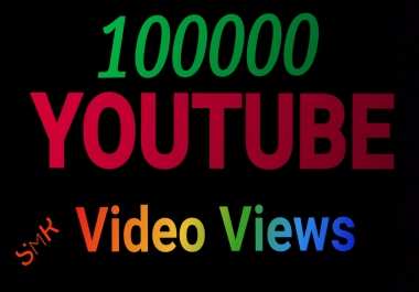 Super fast 3000 Safe High retention U-Tu-be Video View Or 100 like OR 350 subscribers