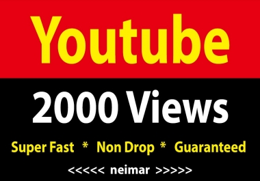 instant 2000 To 2500 Youtube Vieews Fully Safe