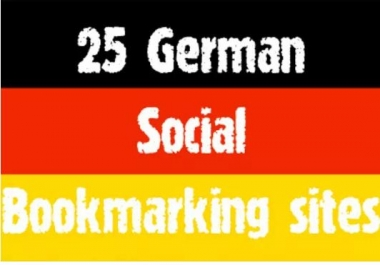 I will submit manually top 25 GERMAN social bookmarks links like misterwong, linkarena, huip and etc