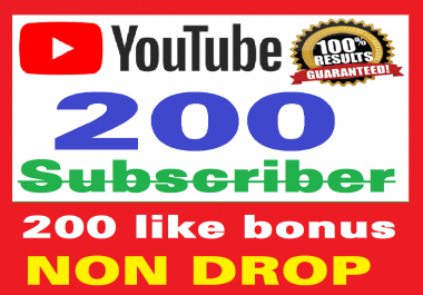 Add 200+ Real  Subscribers and 200+ Likes  Safe and Non Drop