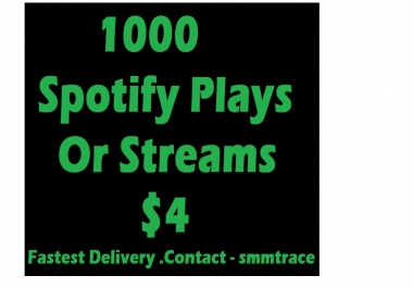 1000 STREAMS to your track