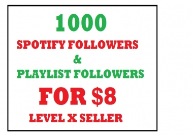 get 1000 spotify playlist profile followers
