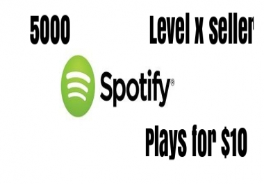5000 SP0TlFY streams to your song high quality streams