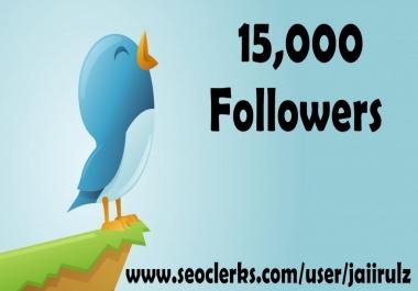 provide 15000  followers