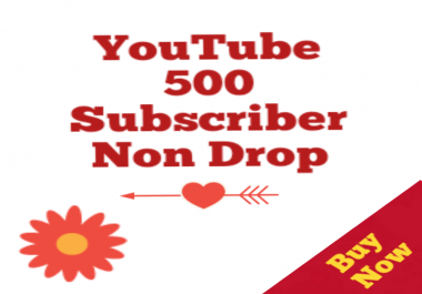 500+Real Youtube Subs cribers Channel Promotion  Non Drop within 12-96 hours