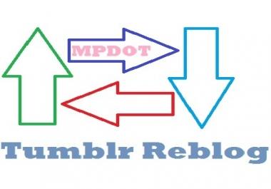Add Fast 500 USA Tumblr Reblog/Followers to Your Profile.