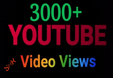 Super Fast 5000 HR Youtube Video Views & 30+ like Or 305+ YouTube video like