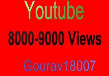 8000-9000 High Quality youtube views