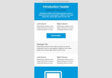 create Modern and Professional Mail Template