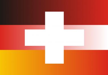 Traffic from Germany, Switzerland, Austria, human visits