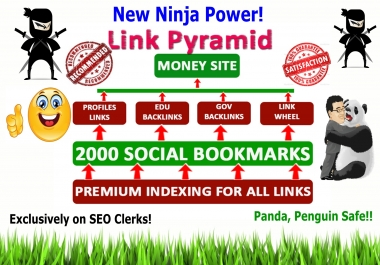 2019 HIT -Rank top on Gooogle by High Quality NINJA Pyramid  HV. 1 SEO Backlinks for your website,blog,