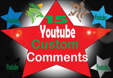 Non-Drop 15 custom comments + 15 subscribers on your  video Only