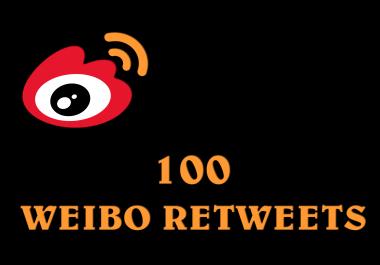 100 Sina Weibo retweets