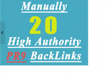 manually create 27 High AUTHORITY PR9 Backlinks Panda,Penguin Hummingbird safe