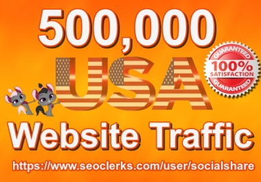 500,000 Keyword Targeted USA Website Traffic By Social Media SEO