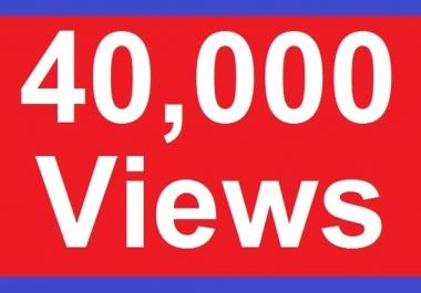 provide 40000 youtube v!ews