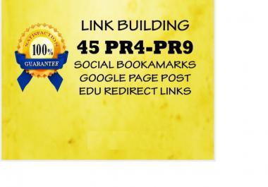 build 45 PR4 PR9 website submission, google page, and EDU backlinks