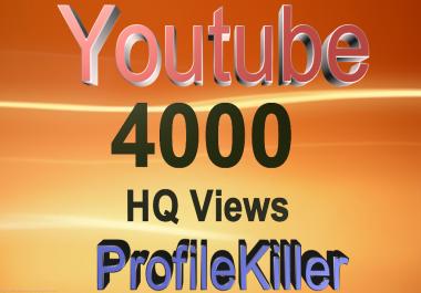 4000 video views High Quality