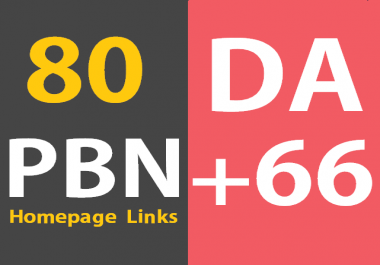 80 Powerful Permanent Homepage PBN Links Manual HIGH DA 66+ Dofollow Website, blogs, Youtube