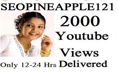 Get 1,000 To  2,000 High Quality Views Fully Safe Instant Start Lifetime Guaranteed