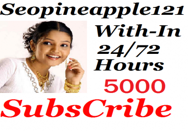 Guaranteed 5000+ Youtube Subs' criber Non-Drop