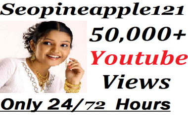 Add 50,000+ HR YouTube Vi-e w-s + 500 Extra Bonus YouTube Li kes Real And Non Drop