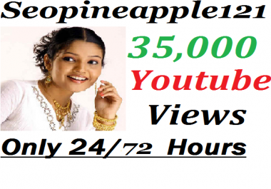 35,000+ HR YouTube Vi e ws + 350 Extra Bonus YouTube Li kes Real And Non Drop