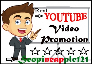ORGANIC VIDEO VIEWS MARKETING PROMOTION REAL VIA USER