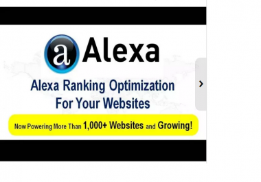 **increase your website Alexa Ranking from 10 to 50 percent within 7days**