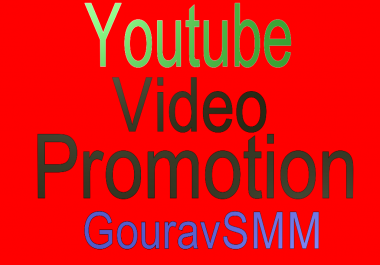 Youtube Video Promotion By our Slow Method