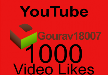 Non drop 1000 plus youtube video likes