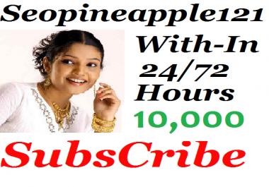 Guaranteed Safe 10,000+ Youtube Subs'cribers Non-Drop