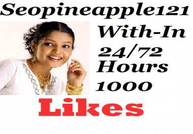 1000+ Youtube Likes Complete 24-72 Hours