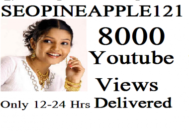 Get 8,000 Or 8K High Quality Views Fully Safe Instant Start Lifetime Guaranteed