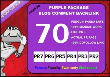 Do 70 PR 7 to 2 Back Links from SEO Blog Comment On Unique Domains for AduIt sites