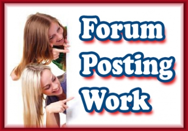 I will make 50 genuine posts on your forum