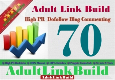 Do 70 SEO Blog Commenting Unique Backlinks Pr2 to Pr7 for AduIt Websites