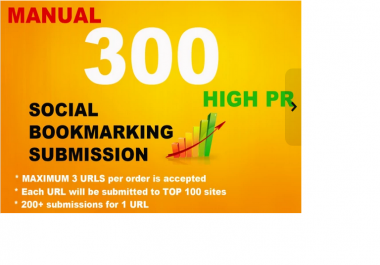 do 200 Social Bookmarking HPR Manual Submission, Includes Top 100 high pr sites