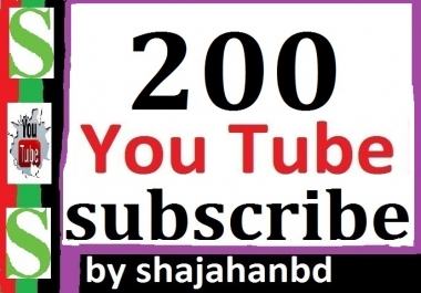 200+ Youtube Subscribers Non Drop 12-24 hours in complete