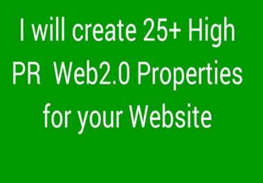Create High PR WEb 2.0 Properties  for Your Website